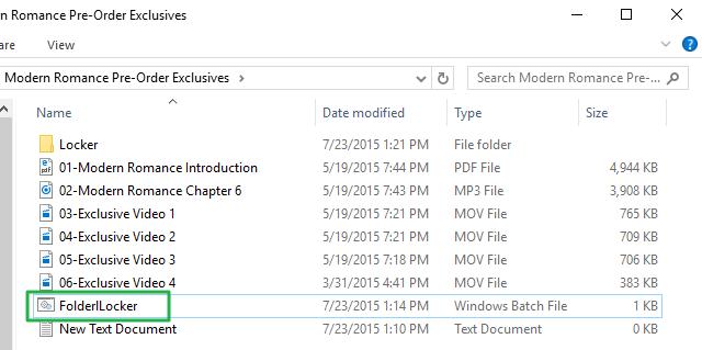 Установить пароль на папку в Windows 10
