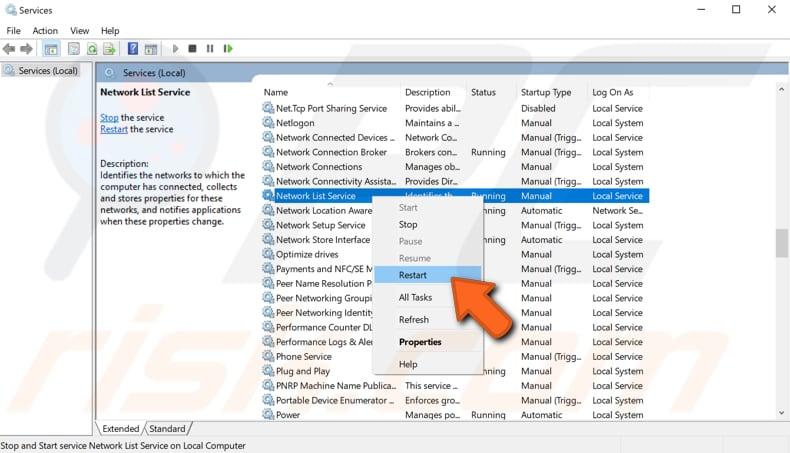 ошибка Центра обновления Windows 0x80070422